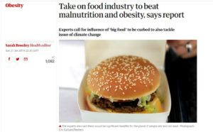 Photo of Guardian article on obesity