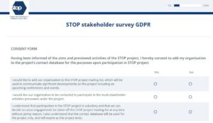 STOP network consent form