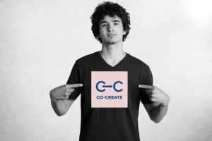 Boy with Co-Create logo